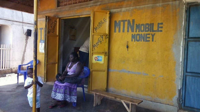Using codes distributed by SMS messages, affected people can access cash at money kiosks